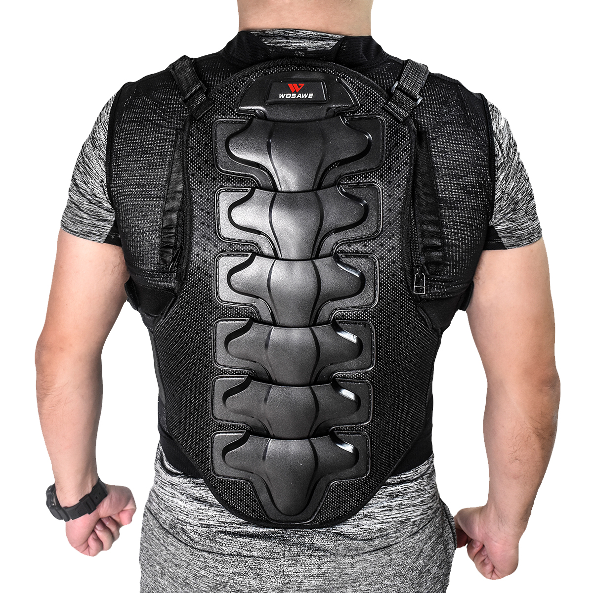 US $35 99 49% OFF|WOSAWE Motorcycle Armor Vest Motocross Cycling Equipment  Cool Mesh Body Protective Off Road Racing Chest Protector Skating Ski-in