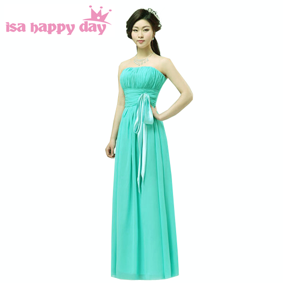 Mix Style Sexy Semi Formal Country Bridesmaids New Turquoise Dresses
