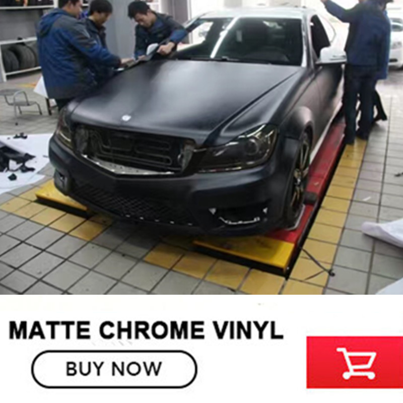 black Satin Chrome Vinyls Metallic Matte Chrome black Vinyl Wrap Film Roll Bubble Free1 52x20m Roll