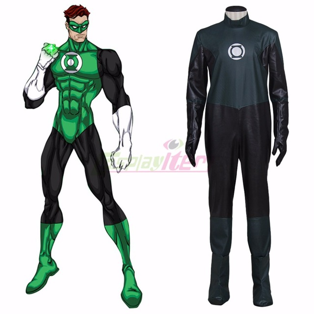 7cd9d560dc9d8b Custom Made DC Comics Silver Age Green Lantern Hal Jordan Cosplay Costume  Carnival Halloween Fancy Party Costume Clothing D0801