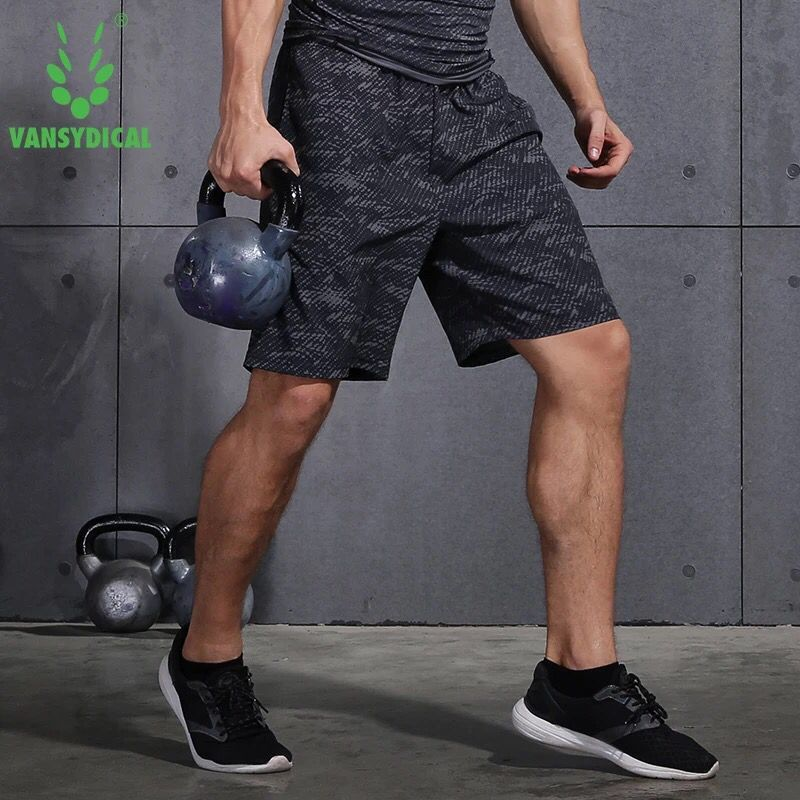 Vansydical Summer Mens Marathon Running Shorts Black Quick Dry Training Fitness Run Sports Shorts Plus Size Workout Gym Shorts