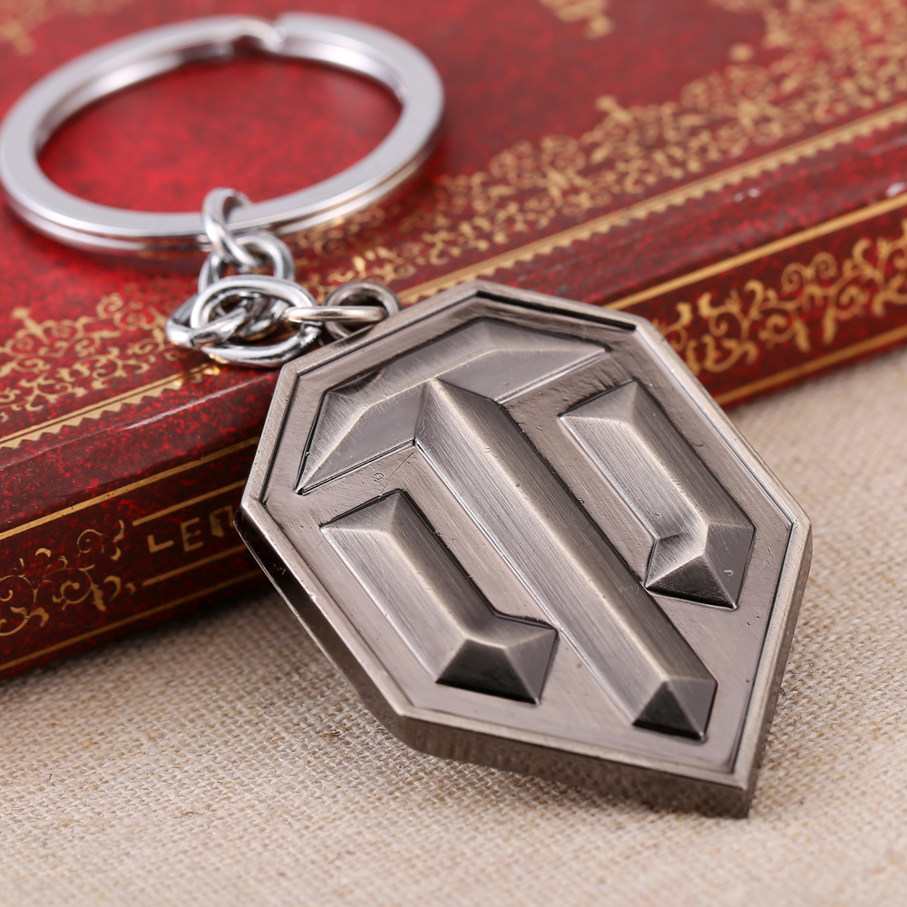 MS JEWELS Game Gifts World of Tanks Logo Keychain Metal Key Rings For Present Chaveiro Key Chain