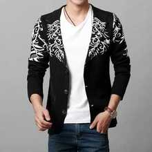 New Arrival 2016 Spring Men's Knitted Blazer Casual Slim Cardigan Sweater Coats Korea Fashion Suits Blazers Men A4516