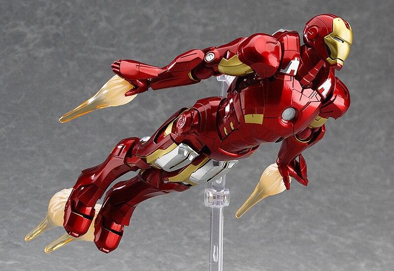 Figma MAX EX-018 The Avenger Ironman 15cm Marvel Iron Man Action Figure Model Toys