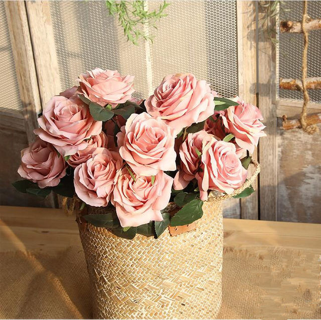 10 heads artificial french rose bouquet bridal flowers wedding 10 heads artificial french rose bouquet bridal flowers wedding decoration valentines roses bunch home table decor junglespirit Images
