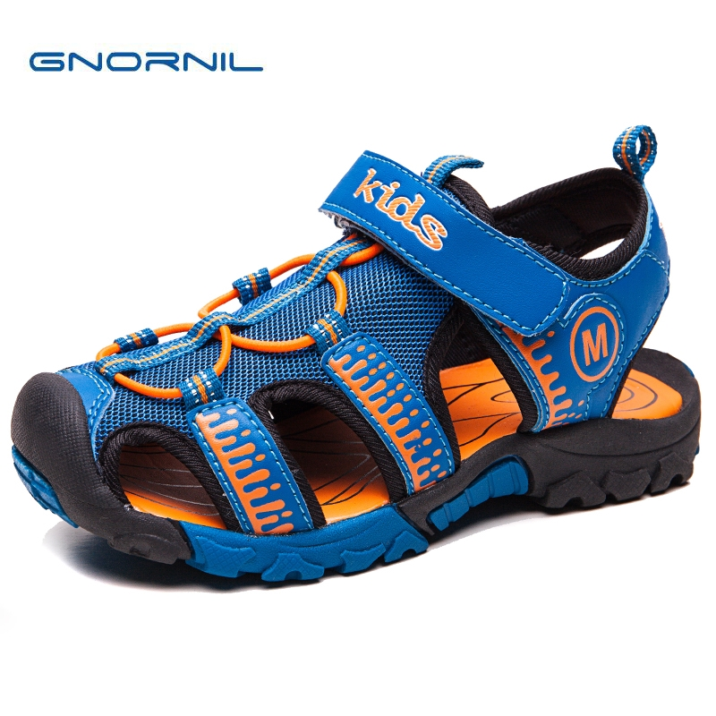 GNORNIL 2018 Fashion Boys Sandals Children Sandals Closed Toe Casual Shoes for Little and Big Sport Kids Summer Shoes Eur25#-37#