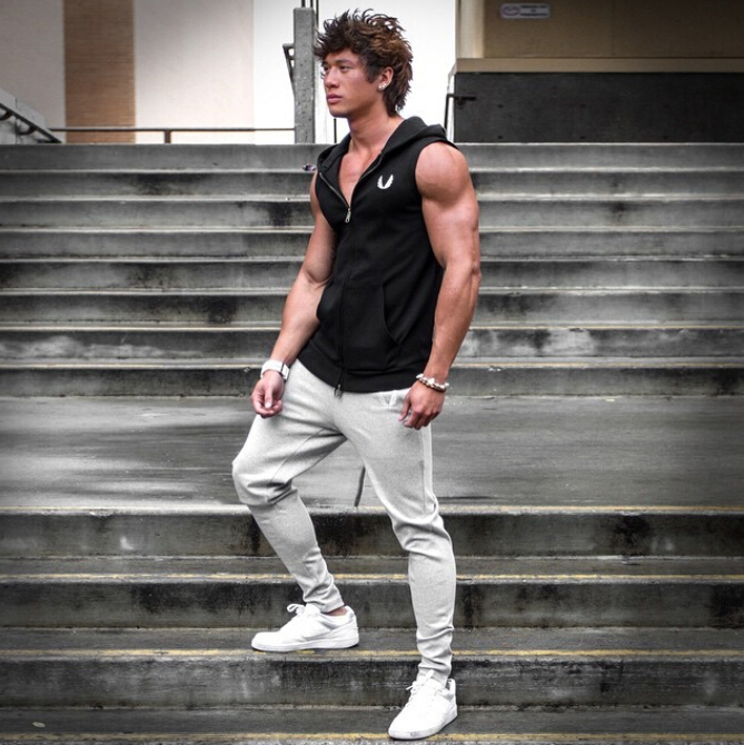 Aliexpress.com : Buy Men Hooded sleeveless undershirt cotton Man ...