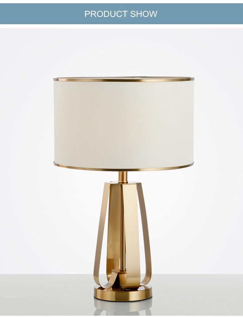 Us 208 88 21 Off Toolery Modern Simple Led Table Lamp Lighting Bedroom Bedside Lamp Metal Gold Fashion Desk Light E27 Lamp Art Home Deocration In