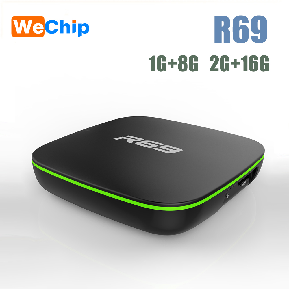 Wechip Top-Box Media-Player Movie Smart Android R69 Wifi H3 HD 1GB 8GB 1080P Quad-Core-Set