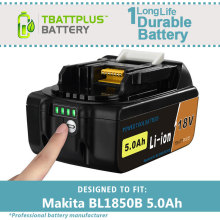 18V 5000mAh Replacement Li-ion Tools Batteries for Makita 5.0A BL1850 BL 1850B BL1840 LXT400