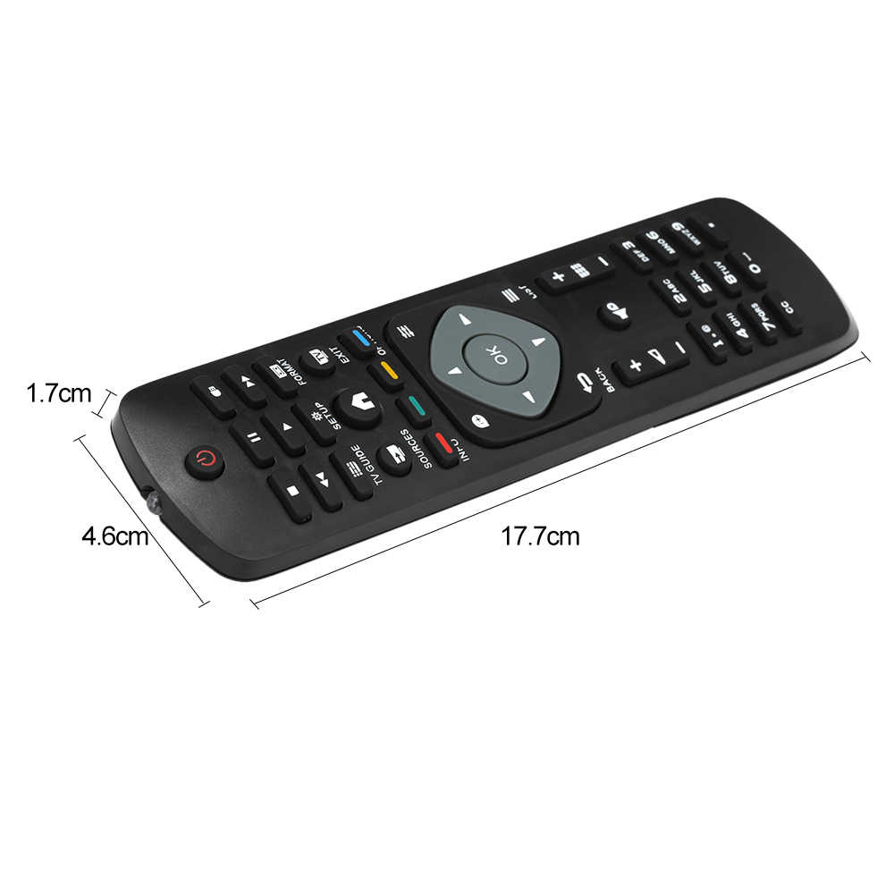 Black Wireless Mini Ultra Slim Keyboard and Mouse For Easy Smart TV Contol for Philips 50PUS6162 50 Smart TV
