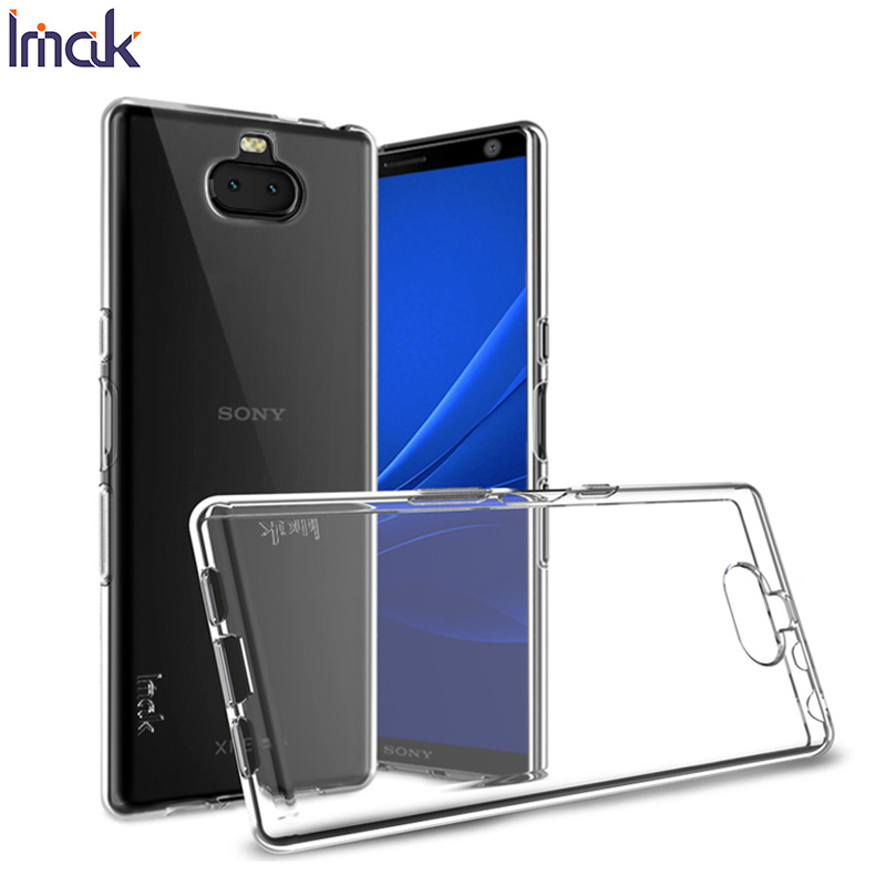 Imak Soft TPU Silicone <font><b>Case</b></font> for <font><b>Sony</b></font> Xperia 10 Plus 1 Transparent Phone Cover for <font><b>Sony</b></font> Xperia 10 Plus 1 <font><b>Xperia10</b></font> 10plus Coque image