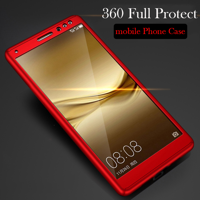 huge selection of 445b8 194a8 360 Degree protection Shockproof Back Cover Cases for Huawei Mate 8 case  Hard plastic Full Body phone Cover Bag For Mate8