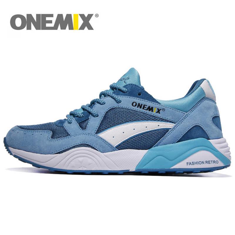 ONEMIX Erkekler rahat ayakkabılar Kadın koşu ayakkabıları Yumuşak Yüksek Ribaund Taban Nefes Örgü Trail Eğitmenler Açık spor ayakkabılar