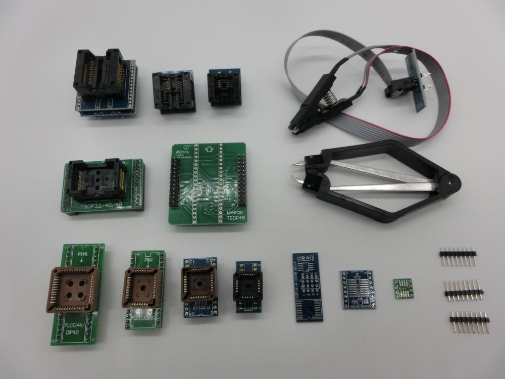 100% オリジナル新加入 XGecu TL866II プラスユニバーサルプログラマ + 14 アダプタ + TSOP32 TSOP48 アダプタ + テストクリップ  グループ上の 電子部品 & 用品 からの 集積回路 の中 2