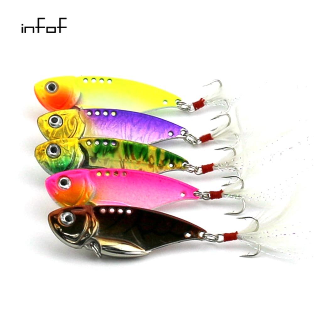 50PCS vibrators fishing lures 5 5CM 11 8G vib spoon squid bait lure bait top water