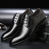 OSCO Brand New Men's Dress Shoes Size 38 44 Black Classic Point Toe Oxfords For Men Fashion Mens Business Party Shoes