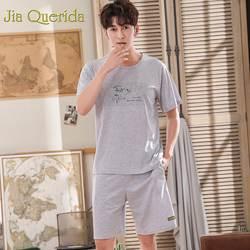 J & Q Пижама для мужчин 2019 короткие Pijama Homme 100% хлопковые пижамы для мужчин летние однотонные модный пеньюар Erkek спальные костюмы для мужчин