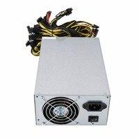 1800 Вт высокая эффективность Питание для ATX монет горно Miner машина 6 GPU ETH BTC Эфириума с низкой Шум охлаждения вентилятор