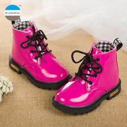 2019 г. Ботинки для маленьких девочек от 1 до 3 лет Детские модные ботинки детские ботинки брендовые Ботинки martin высокого качества обувь для но...