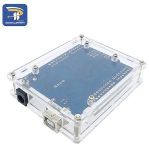 Image 5 - אחד סט שקוף תיבת מקרה מעטפת עבור Arduino UNO R3