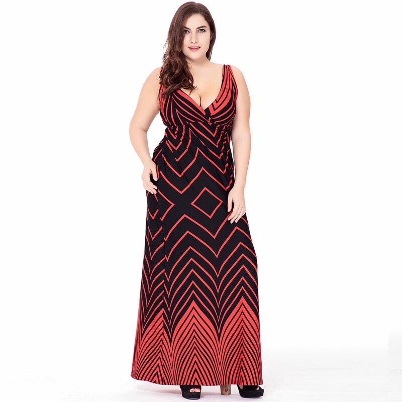 Ženy letní české sexy tisk Plus velikost dámy bez rukávů bez rukávů velká velikost šaty plážová dovolená velká velikost Tílko dlouhé šaty