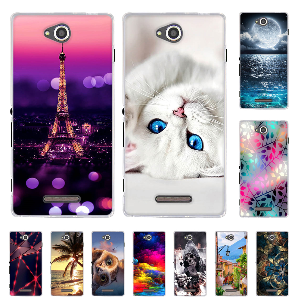 Back Phone Case For Sony Xperia C CN3 S39H C2305 Soft TPU Case Cover For Sony Xperia C CN3 S39H C2305 Print Silicone Shells Bags