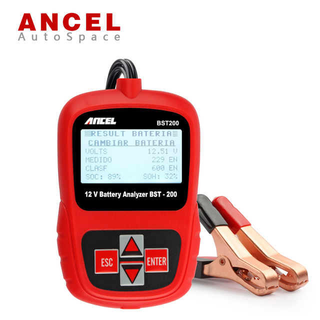 Free Shipping ANCEL BST200 BST-200 12V Car Boat Motor Battery Analyzer Tester Directly Detect Bad Auto Cell Batery 1100CCA New
