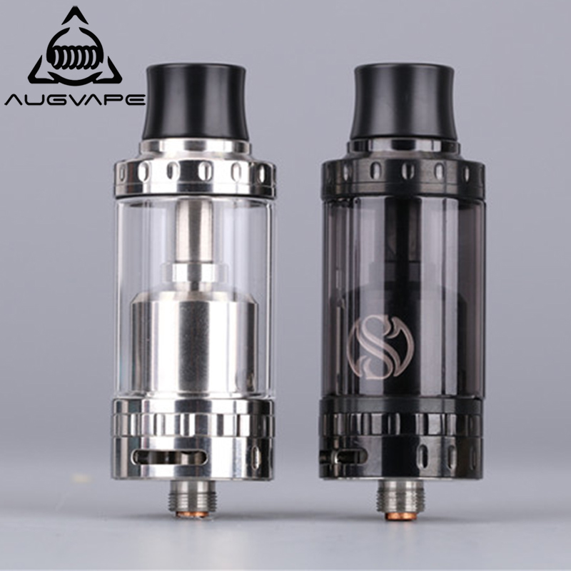 Augvape Merlin RTA Atomizer e-Cigarettes Tank 23mm 4ml Capacity Dual Airflow Adjustable Coil Deck Vape Vaporizer Atomizer Tank augvape merlin rta tank atomizer 23mm 4ml single coil deck dual airflow vape vaporizer electronic cigarette atomizer tank