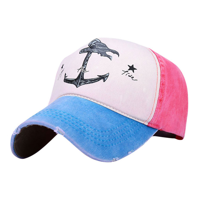 Brand New Vintage Style the Pirate Ships Anchor Printing Baseball Cap Gorra  Adjustable Hip Hop Sun ce7c60d2b3b