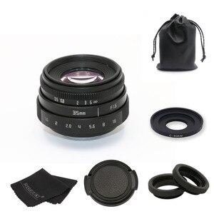 Image 1 - Fujian 35mm f1.6 c 마운트 카메라 cctv 렌즈 ii + c 마운트 어댑터 링 + 매크로 캐논 eos m EF M 미러리스