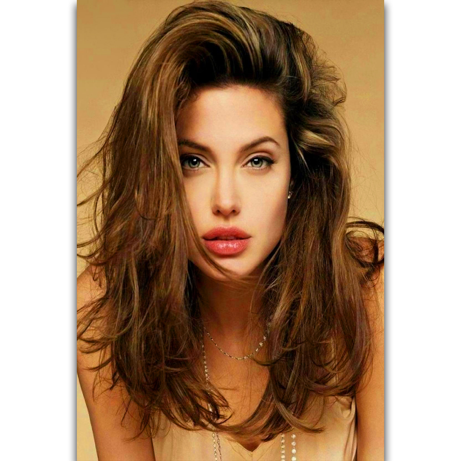 Angelina Jolie Photos Hot us $5.49 |s1399 angelina jolie beautiful movie star actress sexy hot wall  art painting print on silk canvas poster home decoration-in painting &