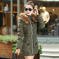 Fashion Women Winter Jacket And Coat Slim Thick Warm Down Coat Zipper Cotton women long down jacket winter thicken Women Coat