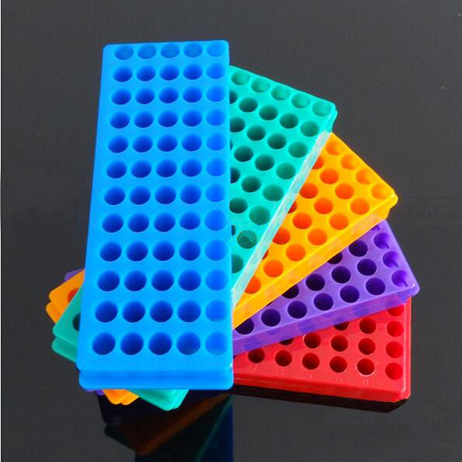 5pcs Tube Rack Double Panel 60 Positions Polypropylene PCR for Microcentrifuge Tubes 0.2/0.5/1.5/1.8/2.0ml wa20p cd [ rack panel 4pin 2contacts rack and panel]