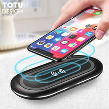 TOTU 10W Wireless Charger For iPhone X 8 Plus Desktop Samsung Galaxy S9 S8 Fast Charging Pad