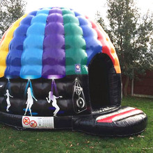Tophop привлекательный надувной диско-купол, надувной отскок дом со светодиодным светильник, открытый музыкальный купол батут для мероприятий