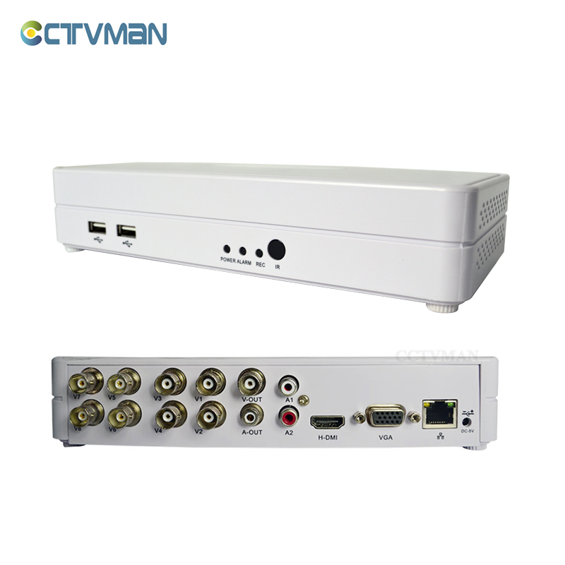 CTVMAN CCTV Mini dvr 8ch 960h full D1 ONVIF Hybrid NVR HVR 1080p HDMI p2p Cloud Digital Video 8 Channel Security Recorders miles kimball flour bag plastic storage container