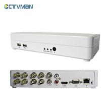 CCTV Mini DVR 8-канальный 960H Full D1 ONVIF Hybrid NVR HVR 1080p HDMI p2p цифровое видео 8-канальная безопасность Бесплатная доставка