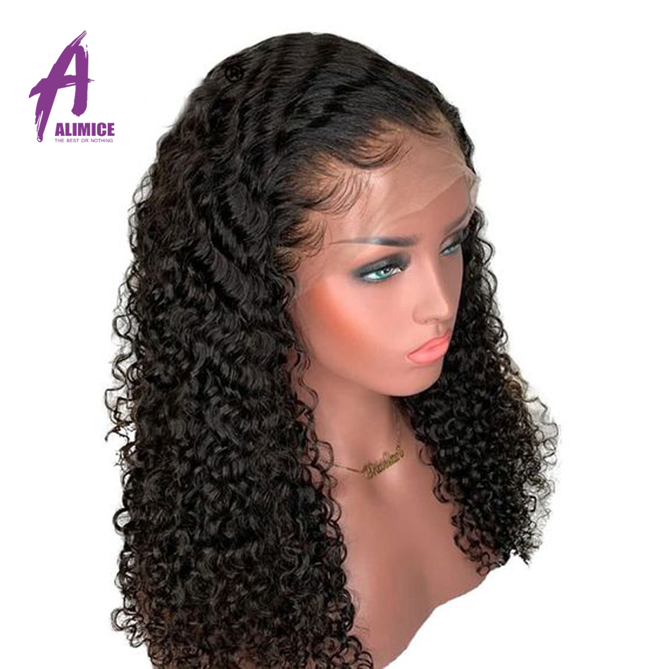 13x4 Curly Human Hair Wig Malaysian Lace Front Human Hair Wigs With Pre Plucked Baby Hair