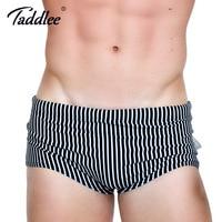 Taddlee Marke Sexy männer Bademode Badeanzüge Schwimmen Boxer Kurze Bikini homosexuell Niedrigen Taille 2017 Neue Design 3D Gedruckt Strand Board Shorts