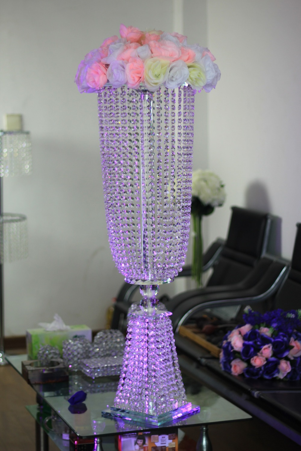 Buy crystal wedding centerpiece table top for Buy wedding centerpieces