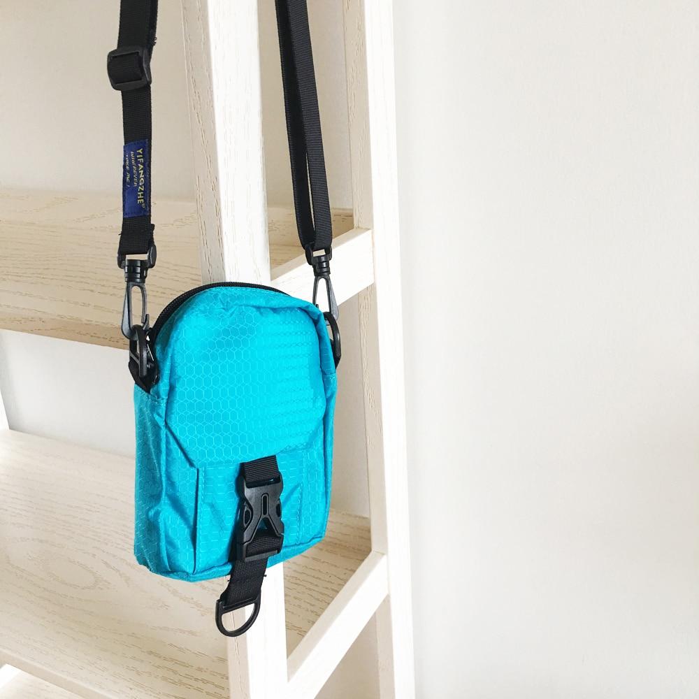 YIFANGZHE Premium de Nylon impermeable bolsillo de Nylon bolso de bandolera bolsas con correa de hombro para los hombres/de las mujeres de teléfono celular monedero