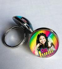 36 pcs (Mixed estilos 8) super pop cantor Luna Luna Elenco de Soja de Soja de alta qualidade Anéis de prata EU sou lua Anel de dedo de vidro