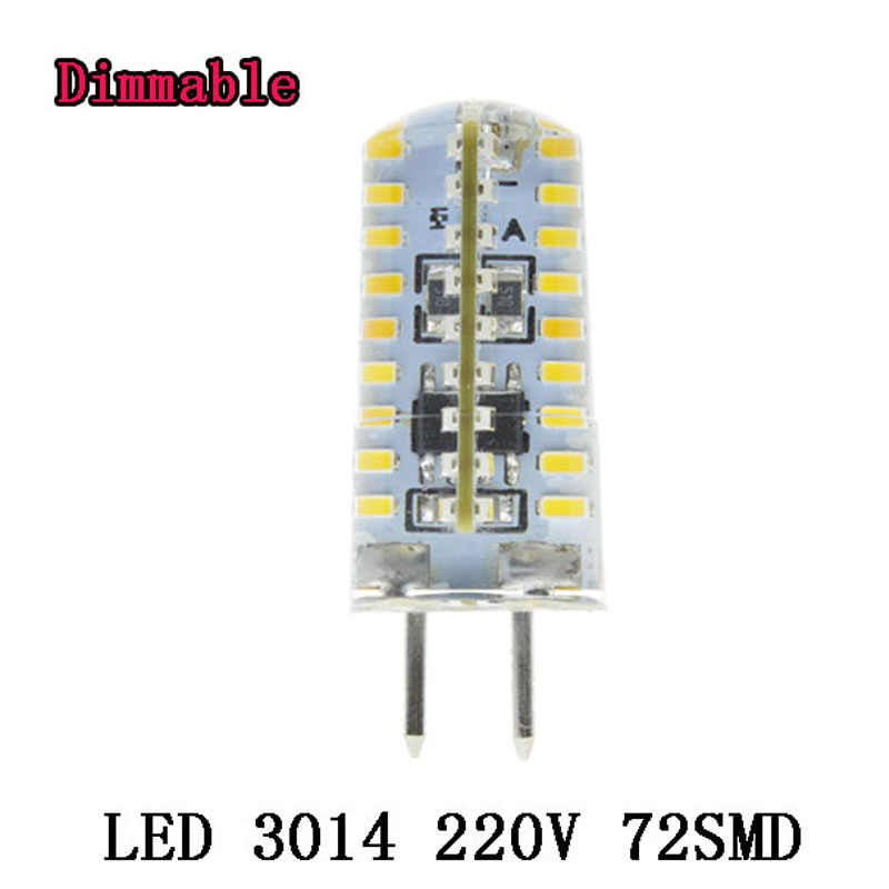 220V GY6.35 LED Spotlight  Lamp GU5.3 Spot light Bulb E27 64 72 120leds lampara Dimmable bombillas led 3014 Light 7W 10W 12W