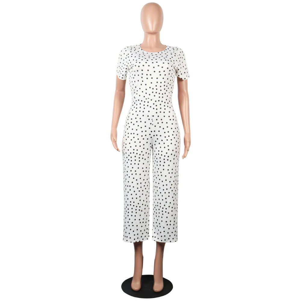 1e79b325c61d HAOOHU Black White Polka Dot Sexy Jumpsuit Plus Size Casual Clothes  Overalls Body Streetwear One Piece Rompers Womens Jumpsuit-in Jumpsuits  from Women s ...