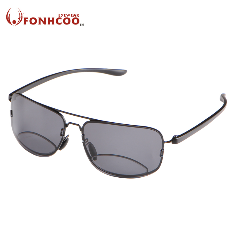 Fonhcoo bifocal نظارات القراءة نظارات للجنسين الديوبتر الذكور الاستقطاب النظارات طويل النظر النظارات + 1.5 + 2.0 + 2.5 + 3.0
