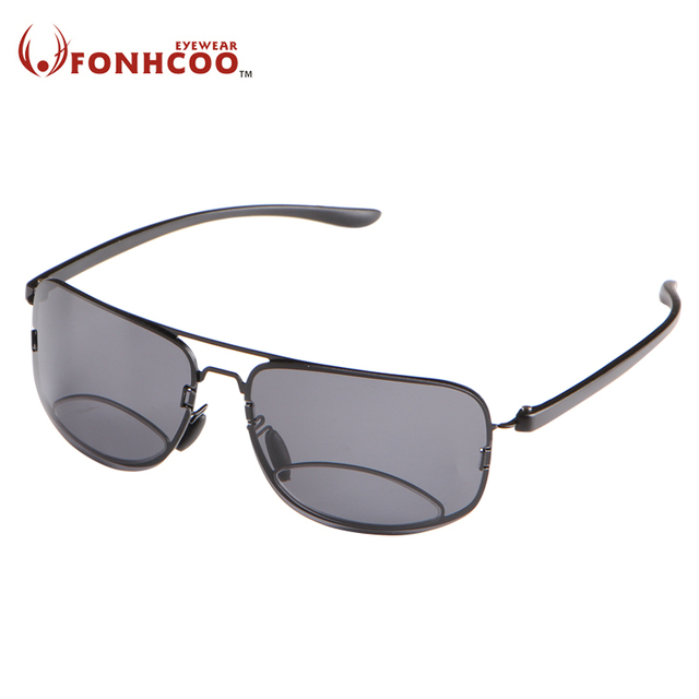 1bd2617037a FONHCOO Bifocal Reading Glasses Unisex Diopter Glasses Male Polarized  Sunglasses Presbyopic Eyeglasses +1.5+2.0+2.5+3.0