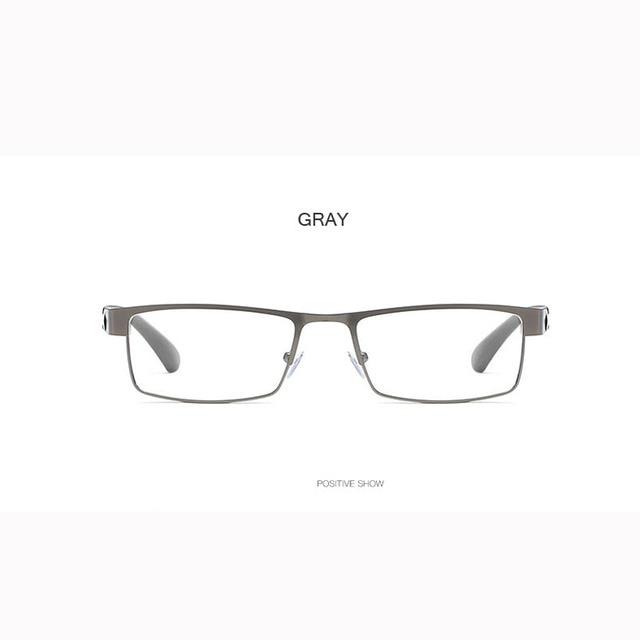 High Quality MEN Titanium alloy Eyeglasses Non spherical 12 Layer Coated lens reading glasses +1.0 +1.5 +2.0 +2.5 +3.0 +3.5+4.0 8