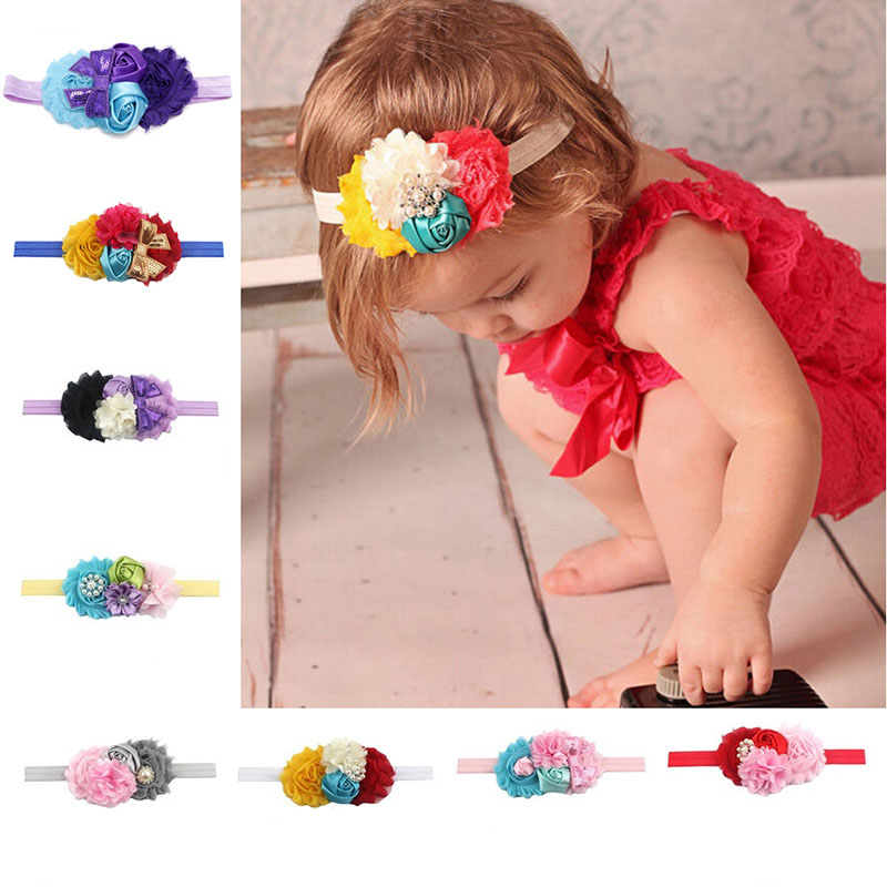1Pc Kids Girl Baby Headband Toddler Lace Bow Flower Hair Band Accessories Headwear
