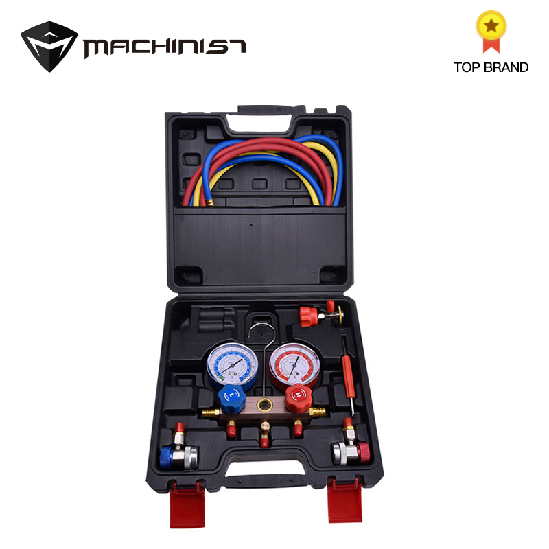 Pression de réfrigérant de climatisation de voiture pour R12 R22 R134a R404a 410a outils de réparation automatique de remplissage de fluor de climatisation de voiture